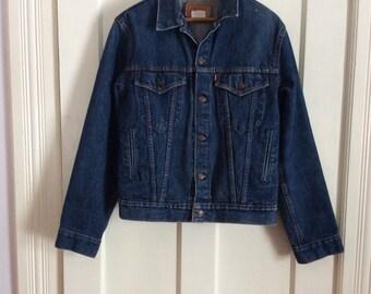 Vintage Levi's Denim Blue Jean Jacket 4 Pocket boy's Size 20 or Small