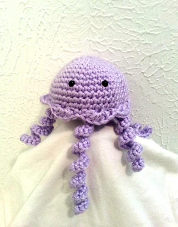 Crochet Jellyfish, Amigurumi Sea Creature, Stuffed Animal, Nursery Decor, Kids Room, Crochet Toy, Made to Order