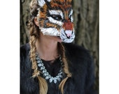 Ready to Ship! Striped Tiger Mask, Wild Cat Mask, Animal Costume, Tiger Costume, adult mask, adult costume,