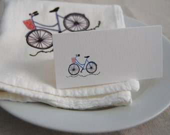Bicycle Tented Cards, Personalized Seating, Blank Name Cards, Party Name Cards, Sports Party, Children's Party Decor, Cycling Party