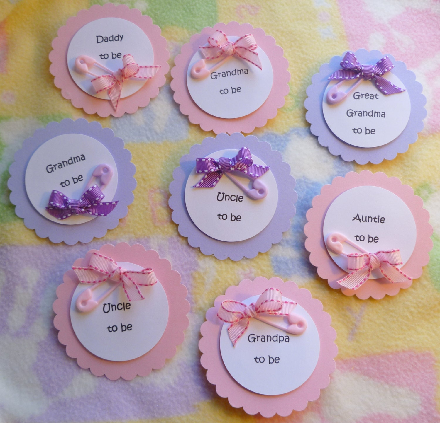 baby shower corsage with diaper pin and by mollbelldesigns on etsy