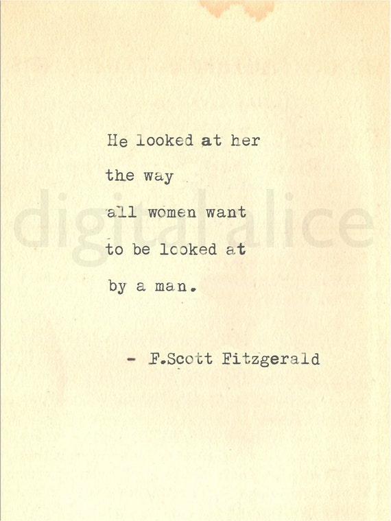 vintage typewriter print f scott fitzgerald gatsby quote wall like this item