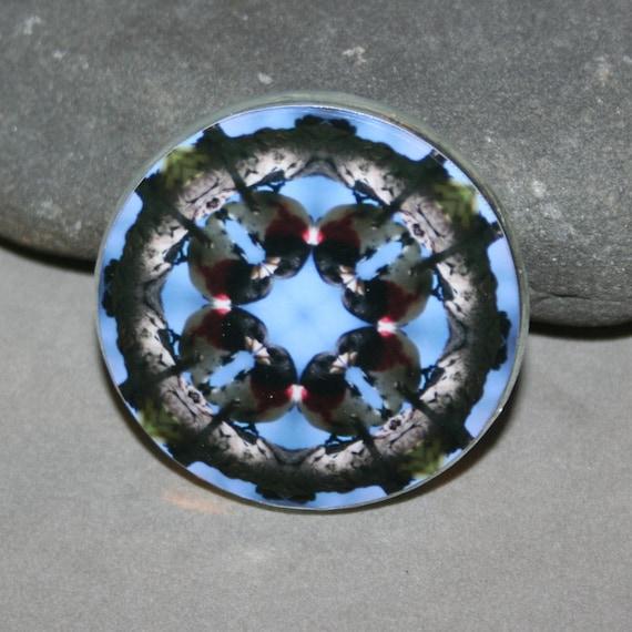 Magnet Grosbeak Songbird Boho Chic Mandala New Age Sacred Geometry Hippie Kaleidoscope Gibberish