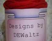Red Jersey Tee Shirt Trapillo Yarn from Designs by DEwaltz