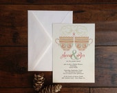 Tea and Coffee Cup Love Bridal Shower Invitation - Set of 25