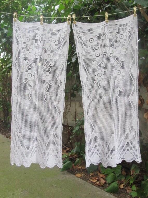Uncinetto tende pannelli porta finestra coppia cotone bianco for Tende in cotone