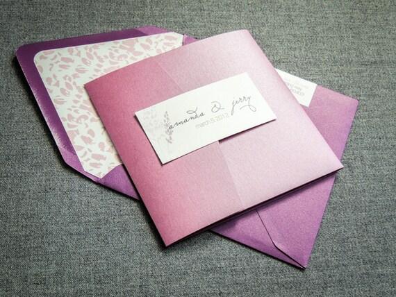 Ombre Wedding Invitation: Ombre Wedding Invitations Plum Azalea & Purple By