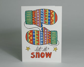 Christmas Card / Holiday Card - Mittens