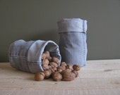 grey denim bucket - set of 2x fabric containers - shelf storage - fabric basket - fabric storage box - basket - lego containers