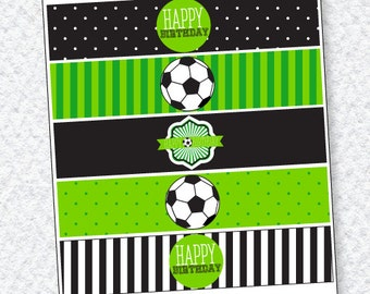 Soccer Party PRINTABLE Drink Labels (INSTANT DOWNLOAD) by Love The Day