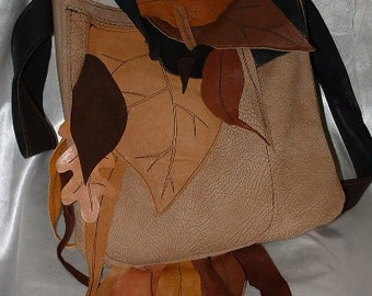 Wood Elf Traveling Leather Bag