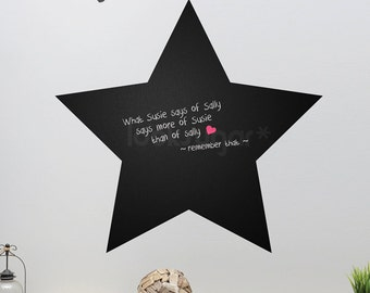 Star Chalkboard Decal - Retro Cafe Farmhouse Chalkboard - LSWN-A0019