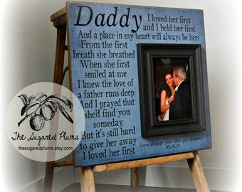 Father of the Bride, Father of the Bride Gift, Father of the Bride Frame, Today A Bride, 16x16 The Sugared Plums