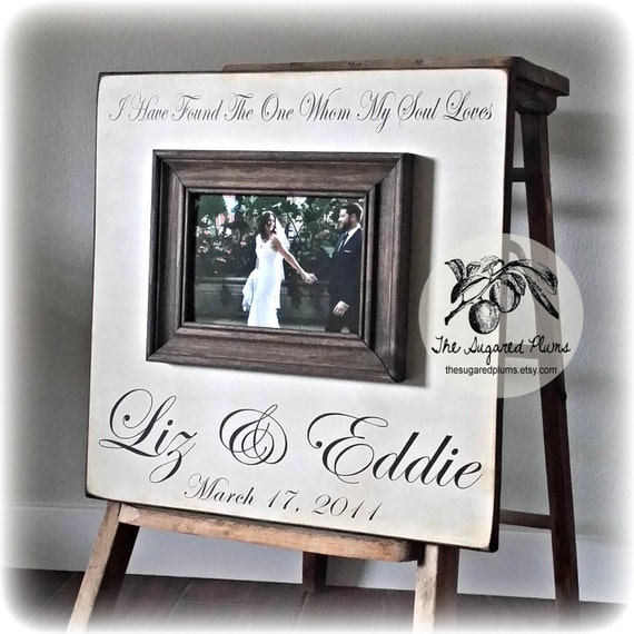 Custom Wedding Frame Personalized Picture Frame 16x16 I HAVE FOUND ...