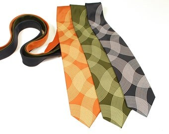 Op Art Men's Necktie - Groomsmen Gift - Men's Neck Tie - Modern Art - Wedding Tie - Father Gift