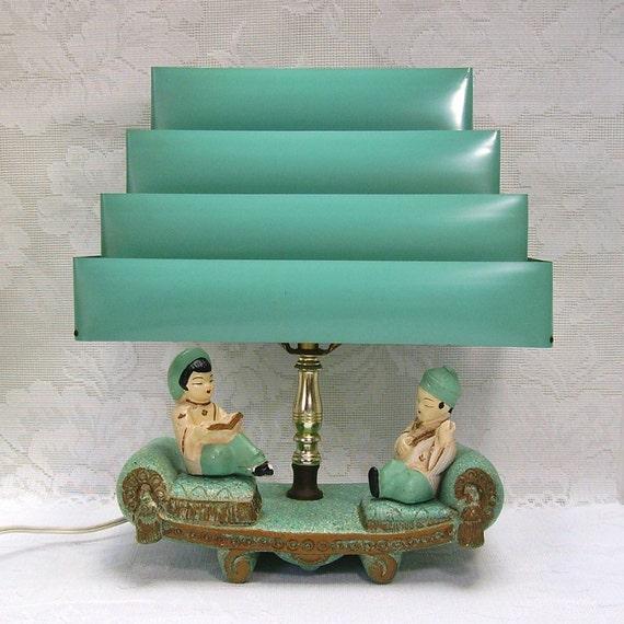 Oriental Lamp Tv Lamp Venetian Blind Shade Mid Century