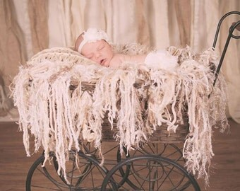 Fringe Baby Blanket Photo Prop Fringe Photo Prop Blanket Baby Blanket Cream Neutrals Newborn Photography Prop