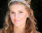 Sophie bridal headband, wedding headband, rhinestone headband, bridal hair accessories, bohemian bridal headband