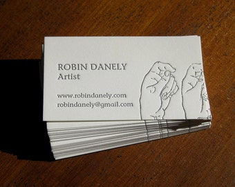 Artist's Customized Letterpress Calling Cards