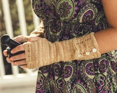 KNITTING PATTERN PDF file for Dk weight fingerless gloves-Ceylon
