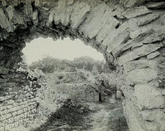 Unused Vintage Postcard - Gallo-Roman Ruins, Sanxay, Vienne, France