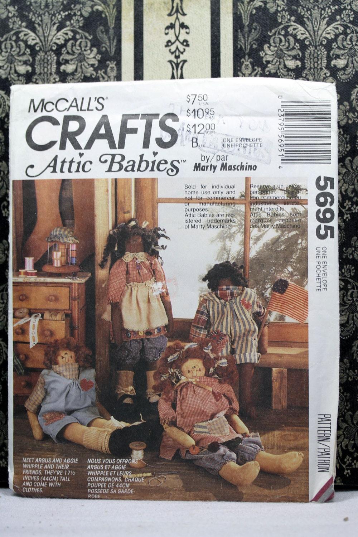Mccalls 5695 Marty Maschino 17 5 Attic Babies Rag Doll