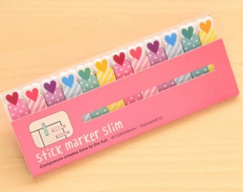 Hearts Sticky Post It Memo Note Pad 180 sheets SS307