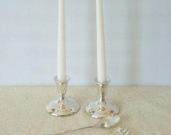 Vintage Candle Holder, Serving Spoon and Fork Set Gift Idea