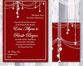 Glass Beads Chandelier  Invitation Suite