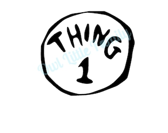 Thing One Iron On Vinyl Decal
