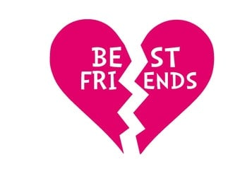 Best Friends Iron On Vinyl Decal