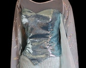 Snow Queen Elsa Costume- Tiny Sequin Corset