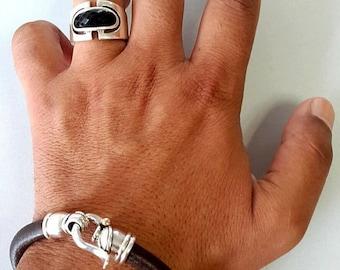 MENS LEATHER BRACELET/ Leather Bracelet for Men/ Men's Personalized Bracelet/ costumer order / men's jewelry / men's gift idea/men's gift