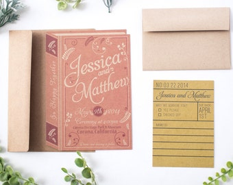 DIY Printable- Vintage Romance Book Wedding Invitation