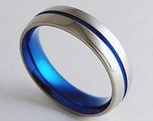 Mens Wedding Band , Titanium Ring , Promise Ring , The Orion Band with Comfort Fit Interior