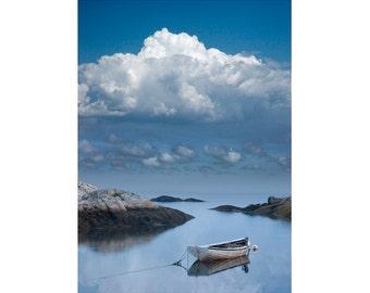 Boat at Peggy's Cove Harbor in Nova Scotia Canada is a Serene Seafarer's Vision A Nautical Seascape Ship Photograph