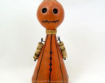 Whimsical Pumpkin Monster Art Doll