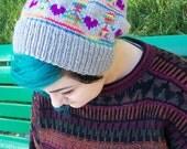 Love Is Love Rainbow Hand Knit Slouch Beanie