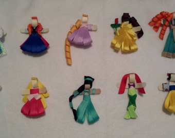 Disney Princess Hair Clips Ribbon Sculpture