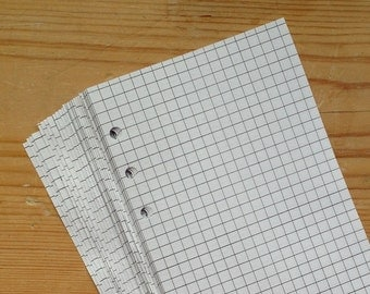 Squared Notepaper inserts - Fits a Filofax or Organiser - white - A5/personal/pocket/mini