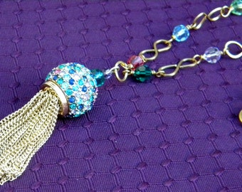 Swarovski Crystal Tassle Necklace