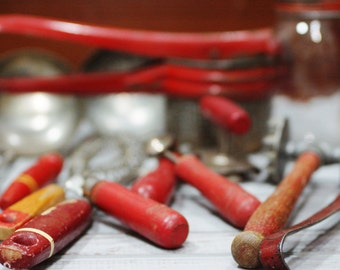 "primitive ""red"" Kitchen Bundle"