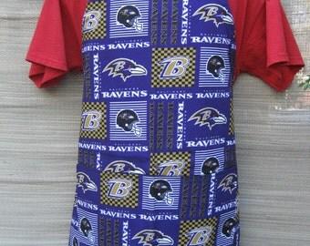 Baltimore Ravens NFL Adult BBQ Apron New Print  32X29