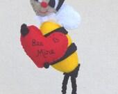 Valentine Decor Bee Felt Doll