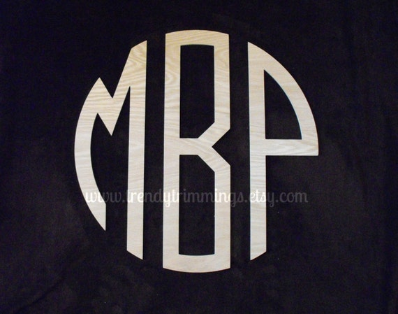 """16"""" Circle Monogram- Wooden Monogram- a classic preppy look for your home, child's room, or nursery"""