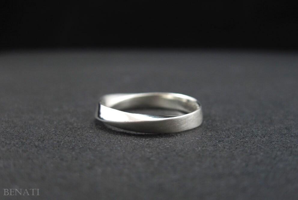 wedding ring 4 5mm mobius wedding band wide mobius by benati