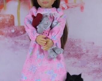 Night Gown Pattern (Slim 18 inch dolls)