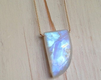Moonstone Necklace Moonstone Jewelry Gemstone Necklace Layered Necklace