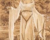 Ophelia 8.5x11 Signed Print Illustration