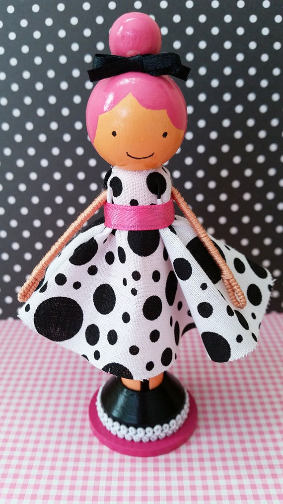 Lily Miniature Wooden Clothespin Doll